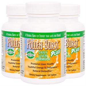 Picture of Pollen Burst™ Plus - Daily Liver Formula - 60 tablets (3 Pack)